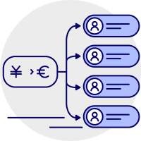 Mass payment and payroll icon
