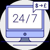Repatriate money icon