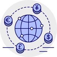 Get local currency accounts icon