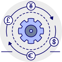 Automatic bank feeds icon