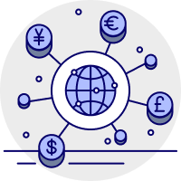 Sync multiple currencies icon