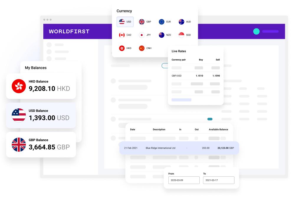 WorldFirst homepage